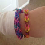My daughter sporting her surprise bracelets from her big brother